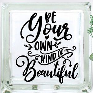 Be Your Own Kind of Beautiful Glass Block Decor